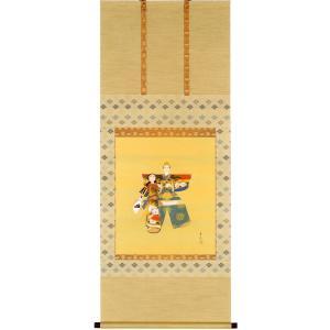 掛け軸 お雛 (月村華渓)  【掛軸】【一間床】【丈の短い掛軸】【ひな祭り】|kakejiku
