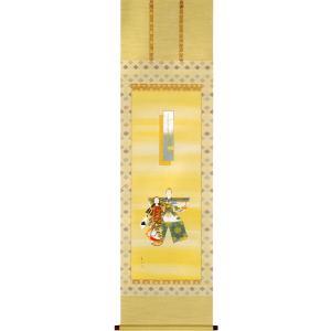 掛け軸 お雛 (月村華渓)  【掛軸】【一間床・半間床】【ひな祭り】|kakejiku