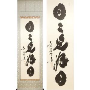 掛け軸 日々是好日 (小林太玄)  【掛軸】【一間床・半間床】【書】|kakejiku