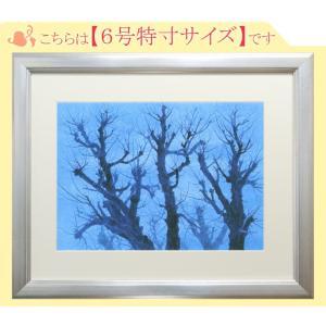 東山魁夷 絵画 樹  【複製】【美術印刷】【巨匠】【変型特寸】|kakejiku