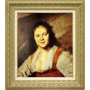 ハルス 絵画 ジプシーの女 F10号  【複製】【美術印刷】【世界の名画】【10号】|kakejiku