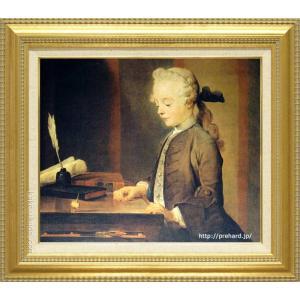 シャルダン 絵画 ゴドフロアの肖像 F8号  【複製】【美術印刷】【世界の名画】【8号】|kakejiku