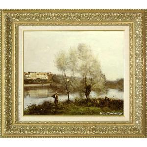 コロー 絵画 希望者のみラッピング無料 ヴィル ダヴレー風景 F8号 新品未使用正規品 美術印刷 複製 8号 世界の名画