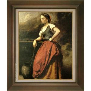 コロー 絵画 井戸端の女 再入荷 予約販売 P10号 美術印刷 10号 25%OFF 世界の名画 複製