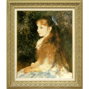 ルノアール 絵画 イレーヌ・カーン・ダンヴェルス嬢の肖像 F15号  【複製】【美術印刷】【世界の名画】【変型特寸】|kakejiku