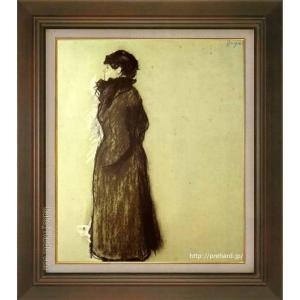 ドガ 絵画 エレン 海外 アンドレ 送料0円 F8号 美術印刷 世界の名画 8号 複製