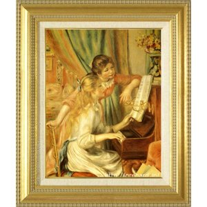 ルノアール 絵画 ピアノに寄る娘達 F6号  【複製】【美術印刷】【世界の名画】【6号】|kakejiku