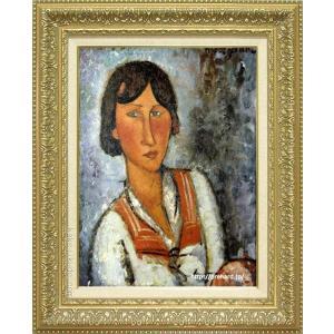 モディリアーニ 絵画 ジプシー女 P10号 複製 超人気 専門店 美術印刷 10号 世界の名画 25%OFF