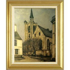 ユトリロ 絵画 メーカー直売 ラ フェール風景 P10号 複製 美術印刷 10号 物品 世界の名画