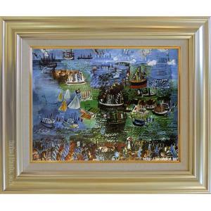 大特価 デュフィ セール価格 絵画 ル アーヴルの水の祭 P10号 美術印刷 複製 世界の名画 10号