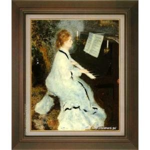 ルノアール 絵画 ピアノを弾く若い女 P10号  【複製】【美術印刷】【世界の名画】【10号】|kakejiku