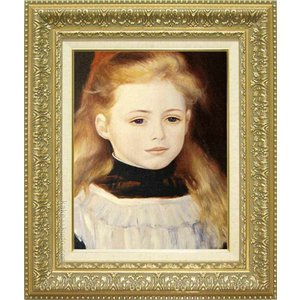 ルノアール 絵画 白いエプロンの少女 F6号  【複製】【美術印刷】【世界の名画】【6号】|kakejiku