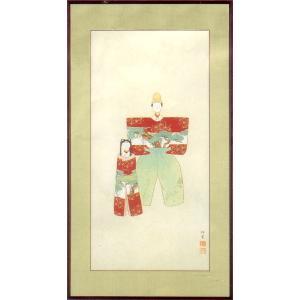 上村松園 絵画 『御ひな之図』  【複製】【美術印刷】【巨匠】【変型特寸】|kakejiku