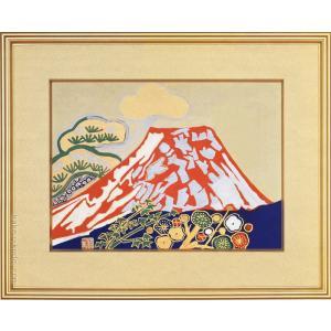 片岡球子 絵画 『富士』  【複製】【美術印刷】【巨匠】【富士】【変型特寸】|kakejiku