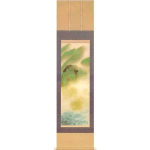 掛け軸 横山大観 『春山雨後』  【掛軸】【一間床・半間床】【春】|kakejiku