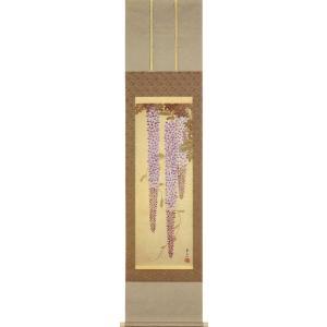 掛け軸 鈴木其一 『藤花図』  【掛軸】【半間床】【夏】|kakejiku