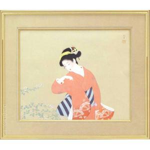 上村松園 絵画  『初秋』  【複製】【美術印刷】【巨匠】【変型特寸】|kakejiku