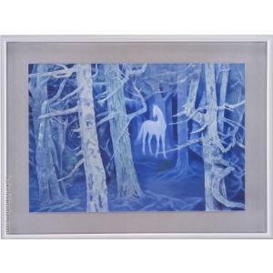 東山魁夷 白馬の森 絵画  【複製】【美術印刷】【巨匠】【変型特寸】|kakejiku