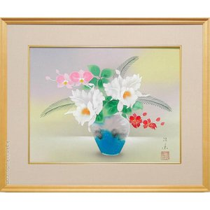 絵画 カトレア (菊池径葉)  【肉筆】【日本画】【花】【6号】|kakejiku