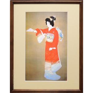 上村松園 絵画 『序の舞』  【複製】【美術印刷】【巨匠】【変型特寸】【年内お届け可能】|kakejiku