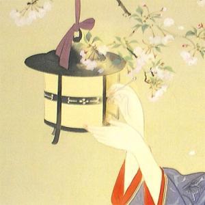 鏑木清方 絵画 『春宵』  【複製】【美術印刷】【巨匠】【変型特寸】|kakejiku|02
