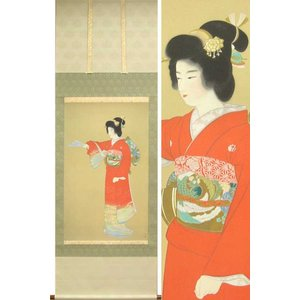上村松園 掛け軸 『序の舞』  【掛軸】【一間床・半間床】【趣味】|kakejiku