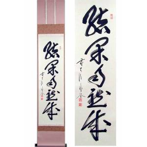 掛け軸 結果自然成 (佐藤朴堂)  【掛軸】【一間床・半間床】【茶掛】|kakejiku