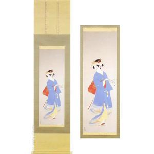 上村松園 掛け軸 『春信』  【掛軸】【半間床】【春】|kakejiku