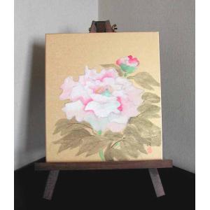 色紙と木製イーゼルのセット 牡丹 (森田秀治) |kakejiku