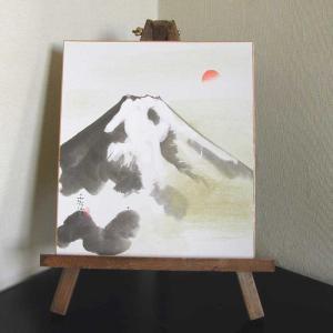 色紙と木製イーゼルのセット 富士 (森田秀治) |kakejiku