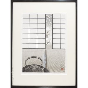 佐野せいじ 買物 木版画 日本正規代理店品 雪片に寄せる 変型特寸 複製 日本の風景