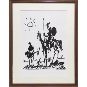 ピカソ 絵画 ドン・キホーテ アートポスター  【複製】【アートポスター】【世界の名画】【変型特寸】|kakejiku