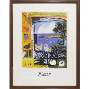 ピカソ 絵画 鳩 アートポスター  【複製】【アートポスター】【世界の名画】【変型特寸】|kakejiku