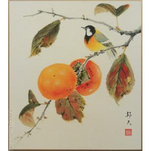 高級色紙「柿」邦夫(色紙絵) kakejiku