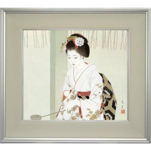 志村立美 美人画 『初詣』 複製画  【複製】【美術印刷】【巨匠】【10号】|kakejiku