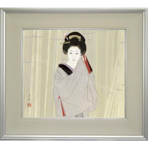志村立美 美人画 『木場2』 複製画  【複製】【美術印刷】【巨匠】【10号】|kakejiku