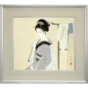 志村立美 美人画 『はをり』 複製画  【複製】【美術印刷】【巨匠】【10号】|kakejiku