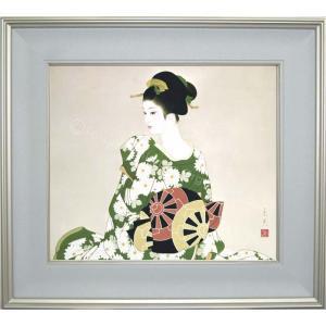 志村立美 美人画 『菊かおる』 複製画  【複製】【美術印刷】【巨匠】【10号】|kakejiku