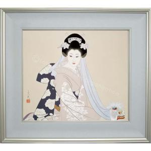 志村立美 美人画 『鏡獅子』 複製画  【複製】【美術印刷】【巨匠】【10号】|kakejiku