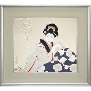 志村立美 美人画 『こたつ2』 複製画  【複製】【美術印刷】【巨匠】【10号】|kakejiku