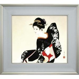 志村立美 美人画 『しぐさ2』 複製画  【複製】【美術印刷】【巨匠】【10号】|kakejiku