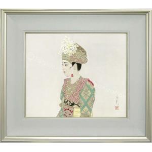 志村立美 美人画 『踊り子』 複製画  【複製】【美術印刷】【巨匠】【8号】|kakejiku
