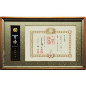 掛軸堂画廊オリジナル 叙勲額 勲章ケース収納型 (勲記勲章額) 桜材 木地色 |kakejiku