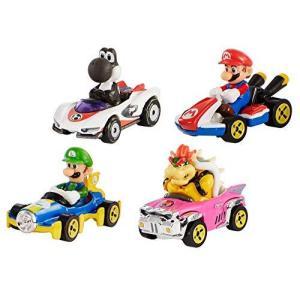 ホットウィール マリオカート 4パックセット限定ブラックヨッシー入り ミニカーセット マリオ ルイー...