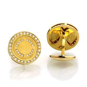 K18 イエローゴールド ダイヤモンド カフス 日本製|kakiya|05