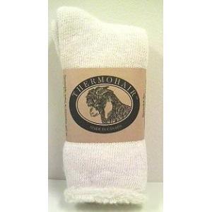 [アンゴラ山羊 キッドモヘア] の良さを最大限に生かしたカナダ製のあったか靴下。 口ゴムの圧迫が気に...