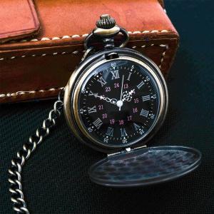 【バーゲンセール】懐中時計 時計 メンズ レディース ポケットウォッチ アンティーク調 クラシック ヴィンテージ レトロ ブロンズ P427XC-2