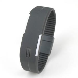 LED メンズ 腕時計 時計 レディース ウオッチ メンズ スポーツ ランニング デジタル腕時計 バングル・ブレスレット腕時計 シリコンウォッチ W-LB01-bk2|kakogawa|05
