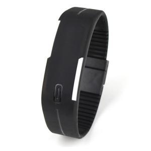 LED メンズ 腕時計 時計 レディース ウオッチ メンズ スポーツ ランニング デジタル腕時計 バングル・ブレスレット腕時計 シリコンウォッチ W-LB01-bk2|kakogawa|06