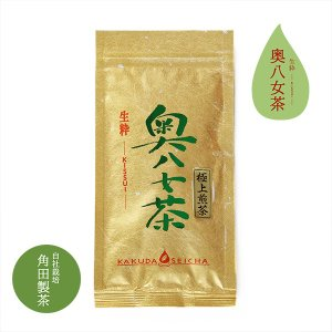 角田製茶 極上奥八女煎茶 100g 【レターパック可】|kakudaseicha